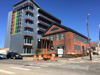 """Newest NHIA """"green"""" dorms at the corner of Lowell and Chestnut streets."""