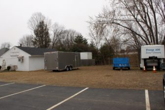 The 20-by-8.5-by 7.5-foot trailer will be home to Liberty House Executive Director Keith Howard for the next year.