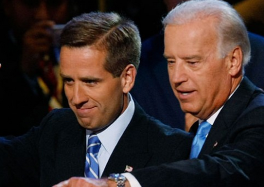 Beau Biden, left, and his dad Vice President Joe Biden.