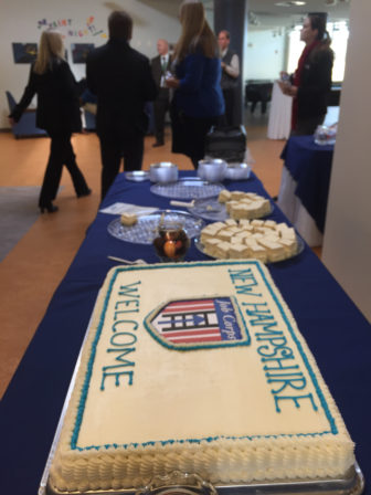 Let them eat cake: Celebrating the new Job Corps complex on Dunbarton Road.
