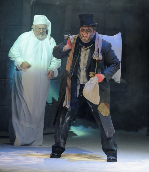 Joel as Old Joe in Palace's Christmas Carol 2009-1