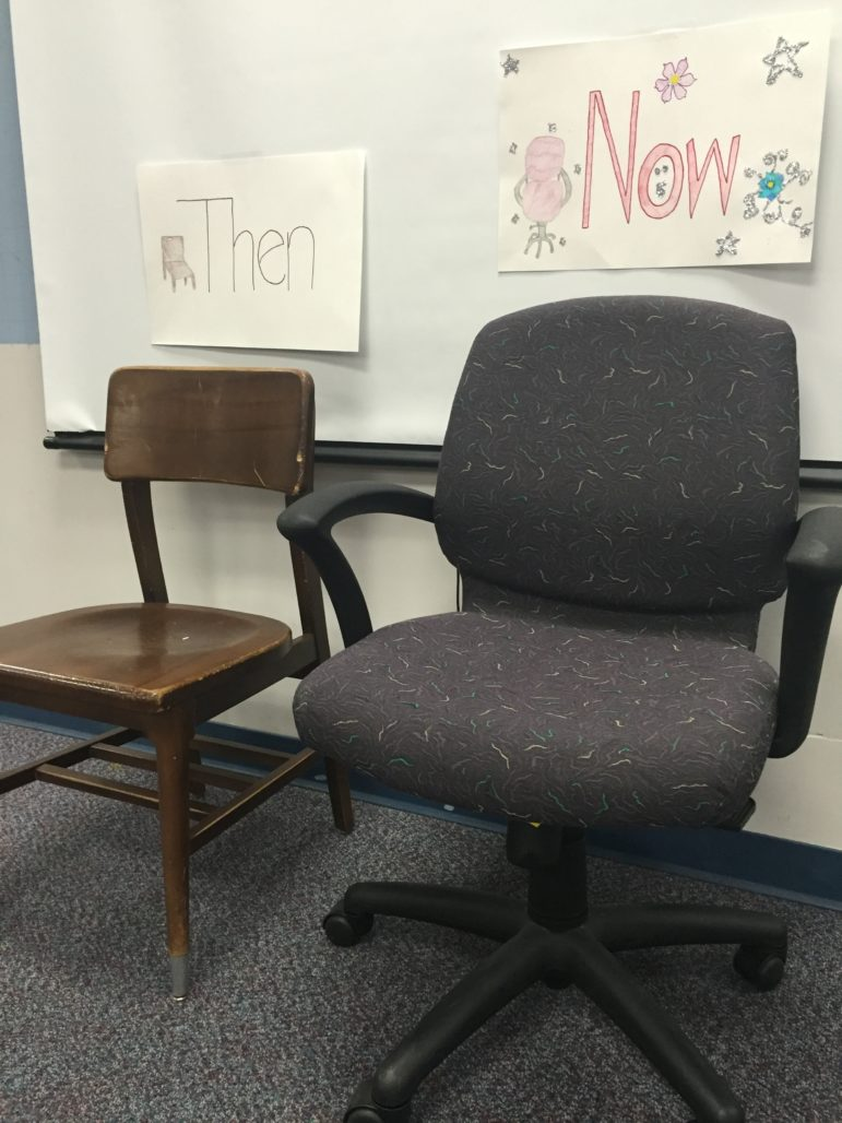 Old chairs vs. new chairs.