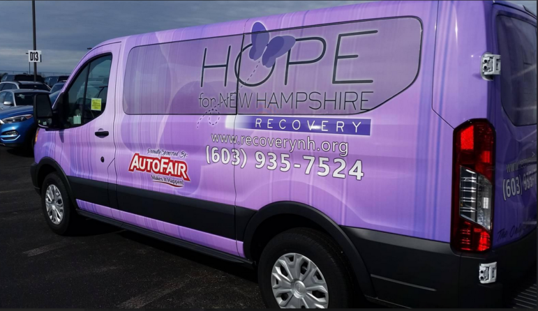 Ready to roll: Hope for NH Recovery is moving forward with a transport van, purchased for $1 from AutoFair.