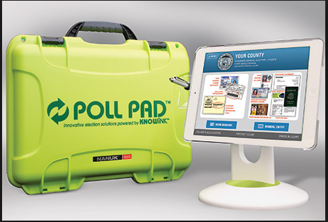 Poll Pad system comes self-contained in a case.