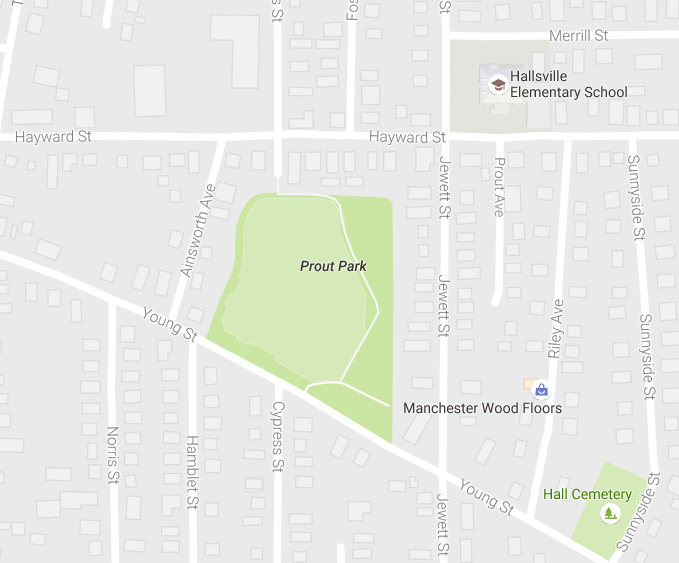 A man's body was discovered in Prout Park ball field.