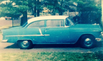 Mom's'55 Chevy, circa 1995, when she sold it after 40 years.