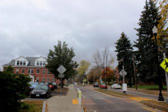 Keene State College campus seeks a return to normalcy, Wednesday after the riot.