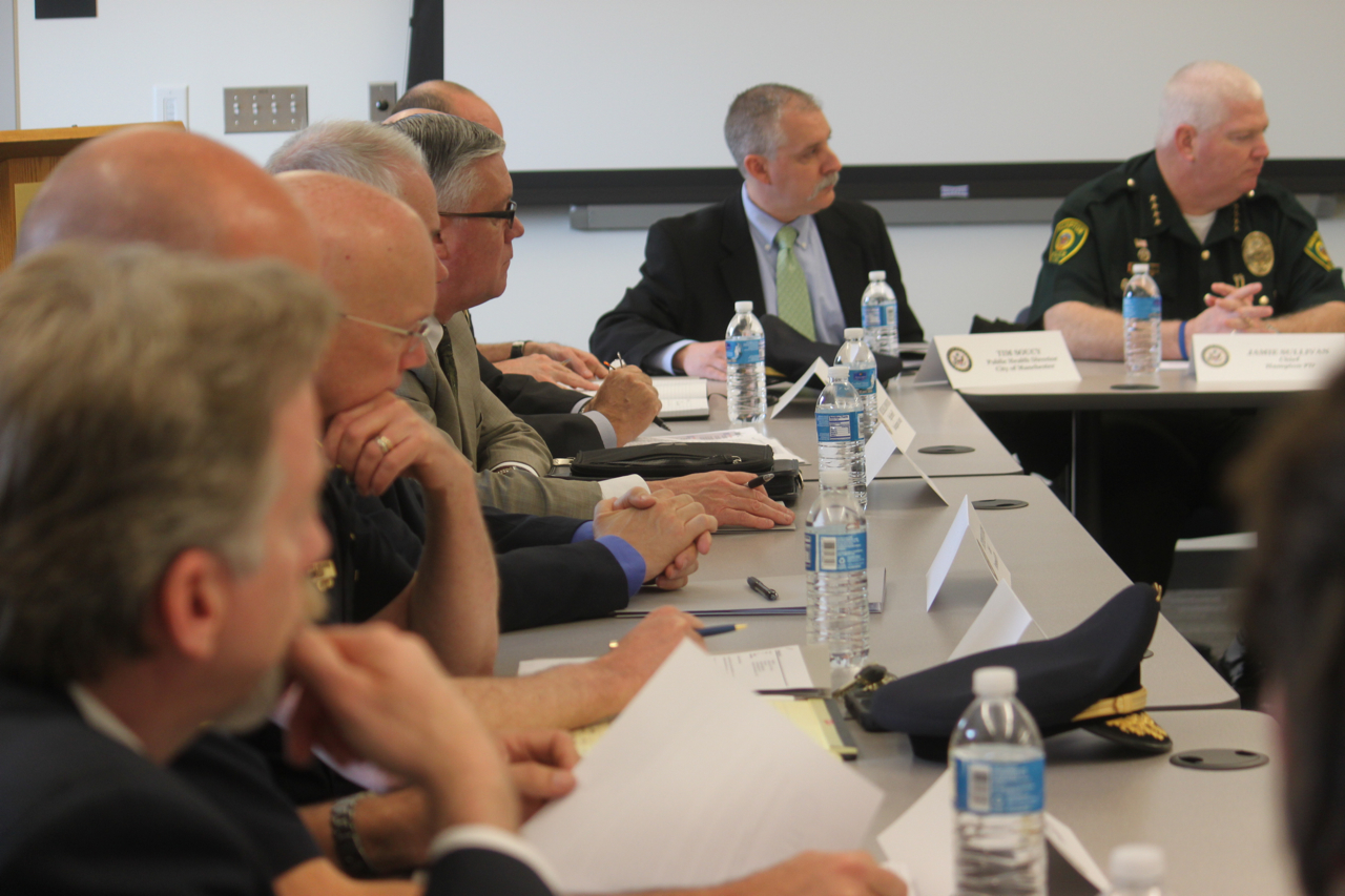 April 23, 2014 law enforcement discussion on how to stop the heroin/oxy epidemic taking hold across the state.