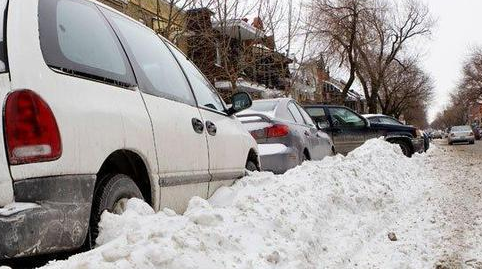 Overnight parking is banned during a winter storm emergency.