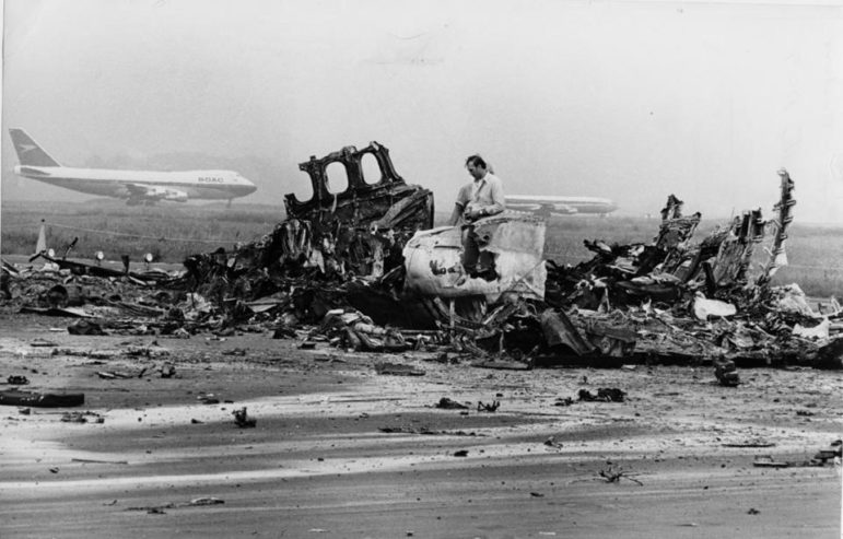 In the aftermath of the 1973 crash at Logan Airport.