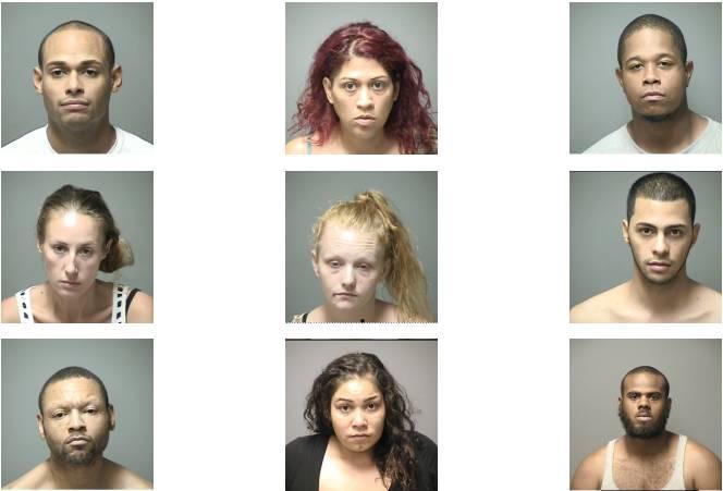 9 arrested in drug raid targeting suspected drug dealers