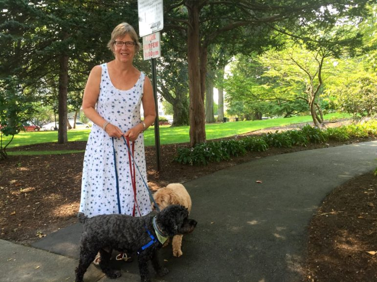 Susan Woods, a neighbor of Wagner Park and now an official Friend –she is among a small group of neighbors officially adopting the park for safe keeping.