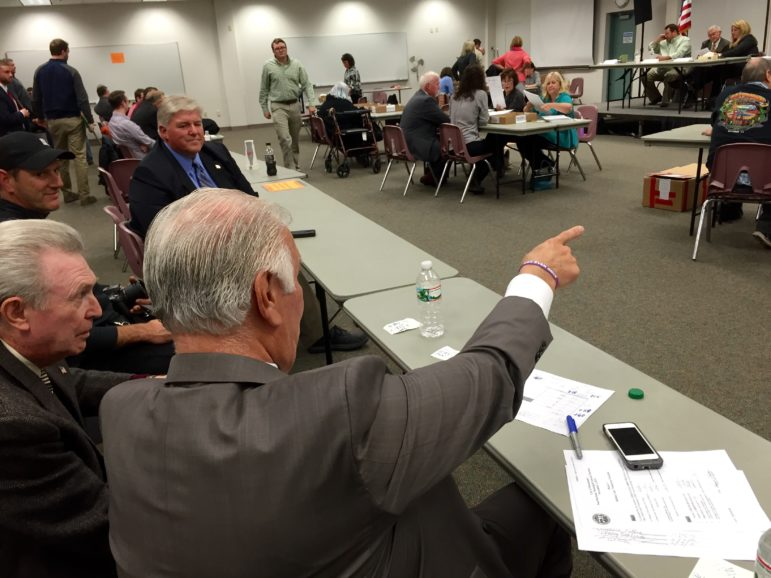 Mayor Ted Gatsas had a front-row seat to the entire process and said he was staying until the bitter end.