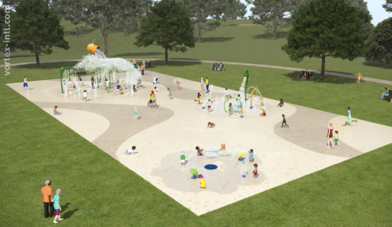 Rendering of the city's Splash Pad at