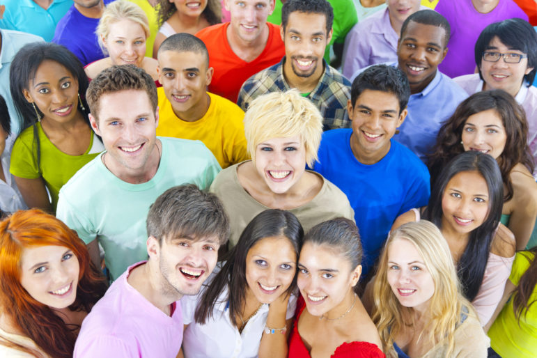Large Group of Diverse Multiethnic Students
