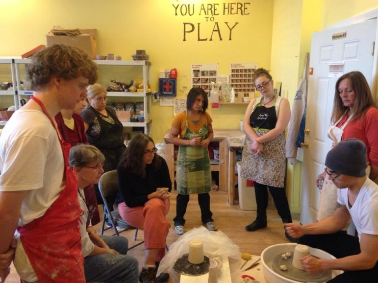 Classes at Studio 550 create a sense of community, while providing expert instruction in various art forms.