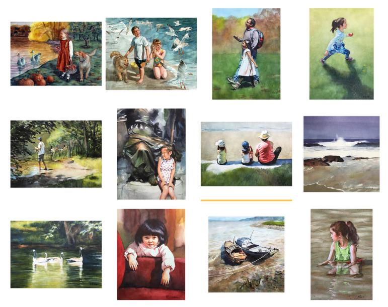 A sampling of the work of artist Yong Chen.