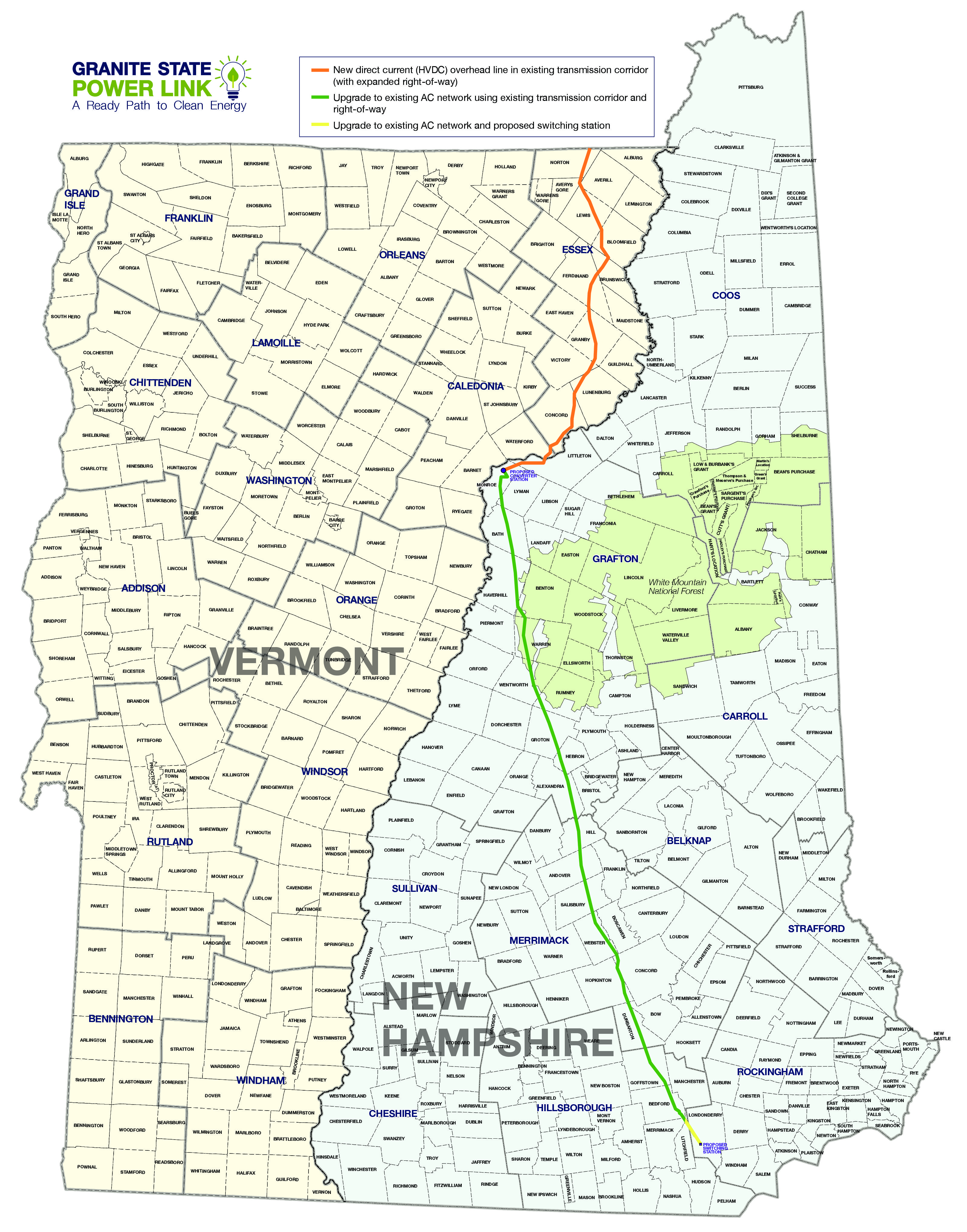 Map Of New England And Quebec.National Grid Dives Into The Quebec To New England Energy Fray