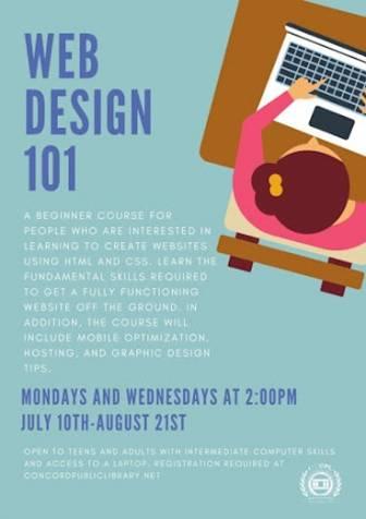 Web Design 101 flyer
