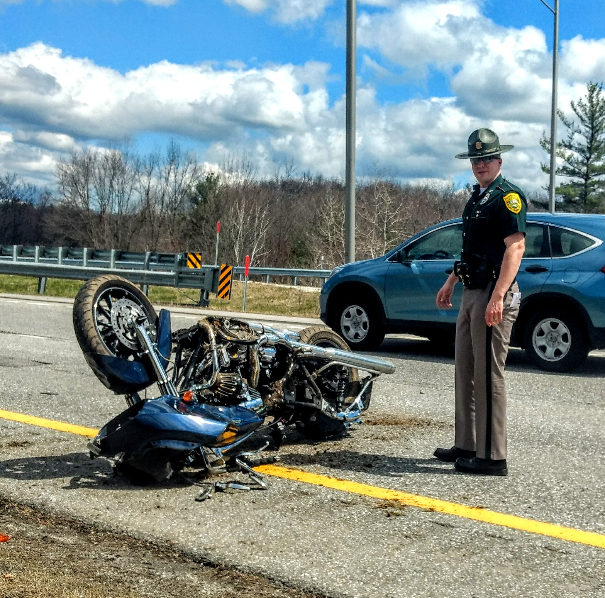crash motorcycle injured manchester near weare hooksett mc
