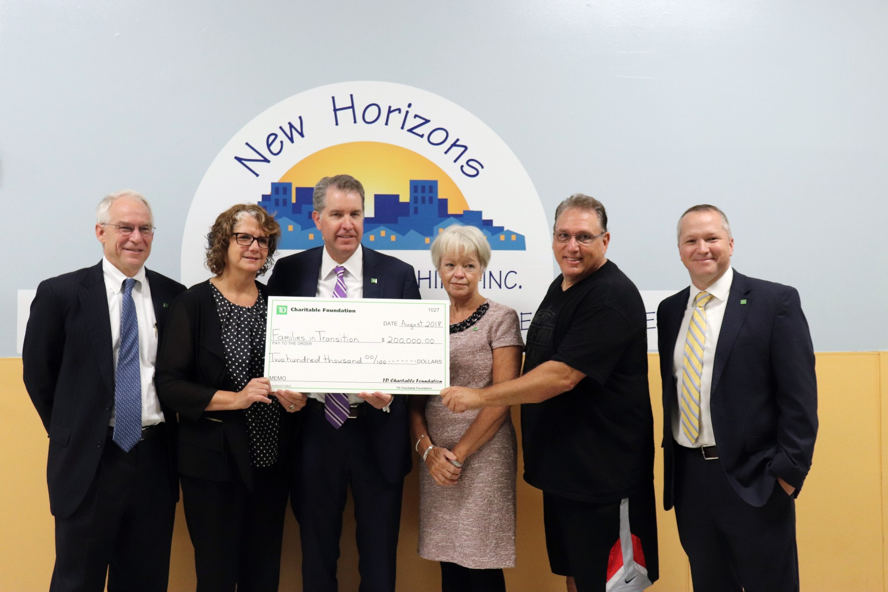 200k Donation From Td Bank Foundation To Assist Fit New Horizons
