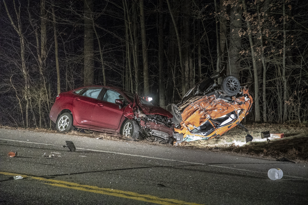 1 dead, 3 injured in three-vehicle Milford crash