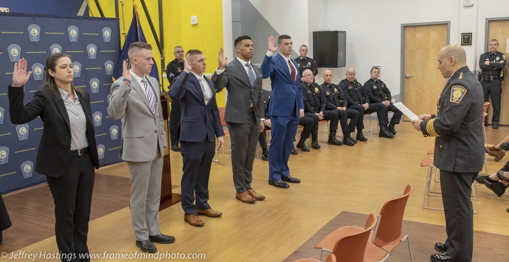 5 new sworn officers and 3 promotions for Manchester Police