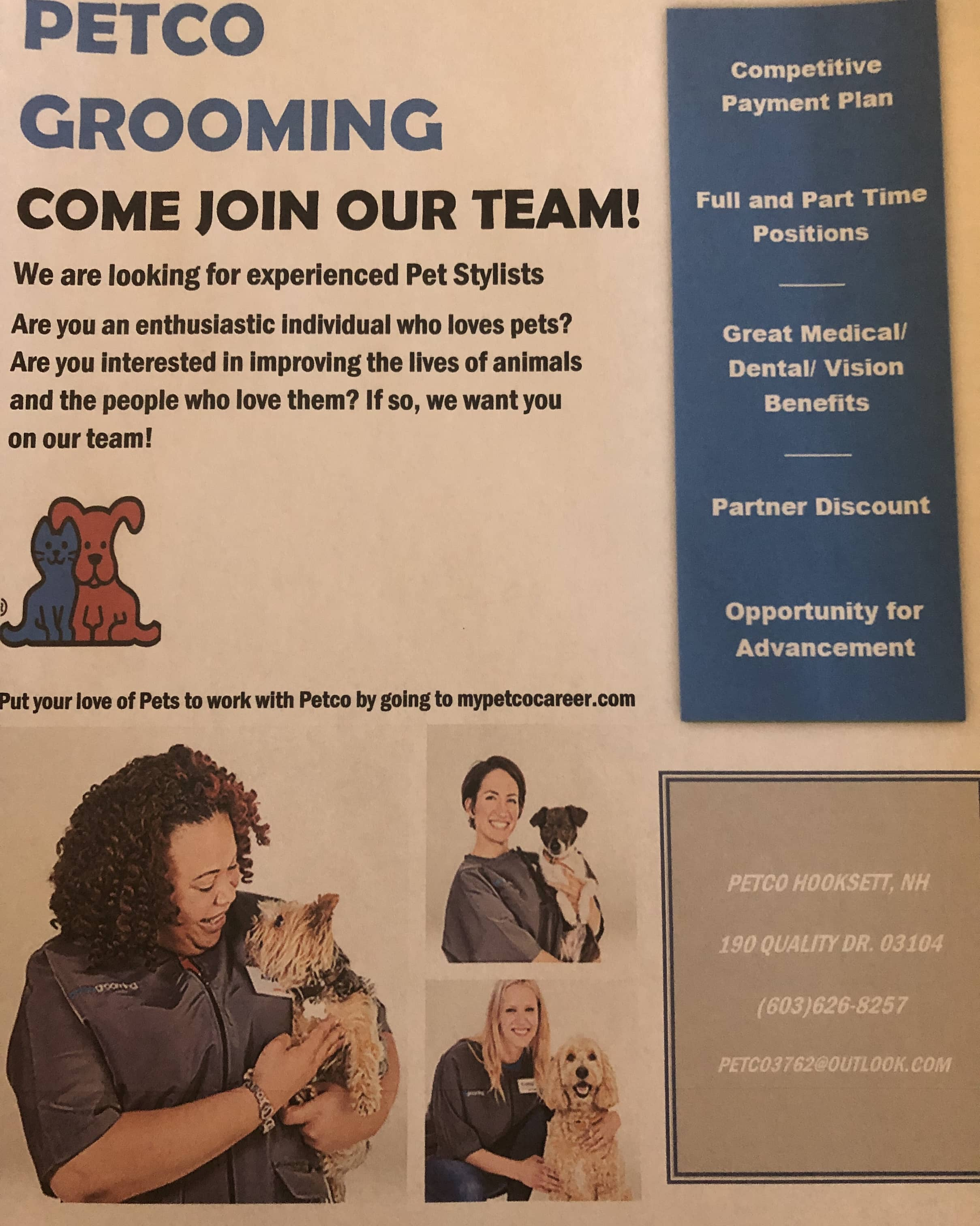 Get Hired: Hooksett Petco needs a groomer who loves animals
