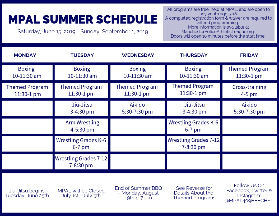 Free Summer Programs For Kids Start June 15 At MPAL