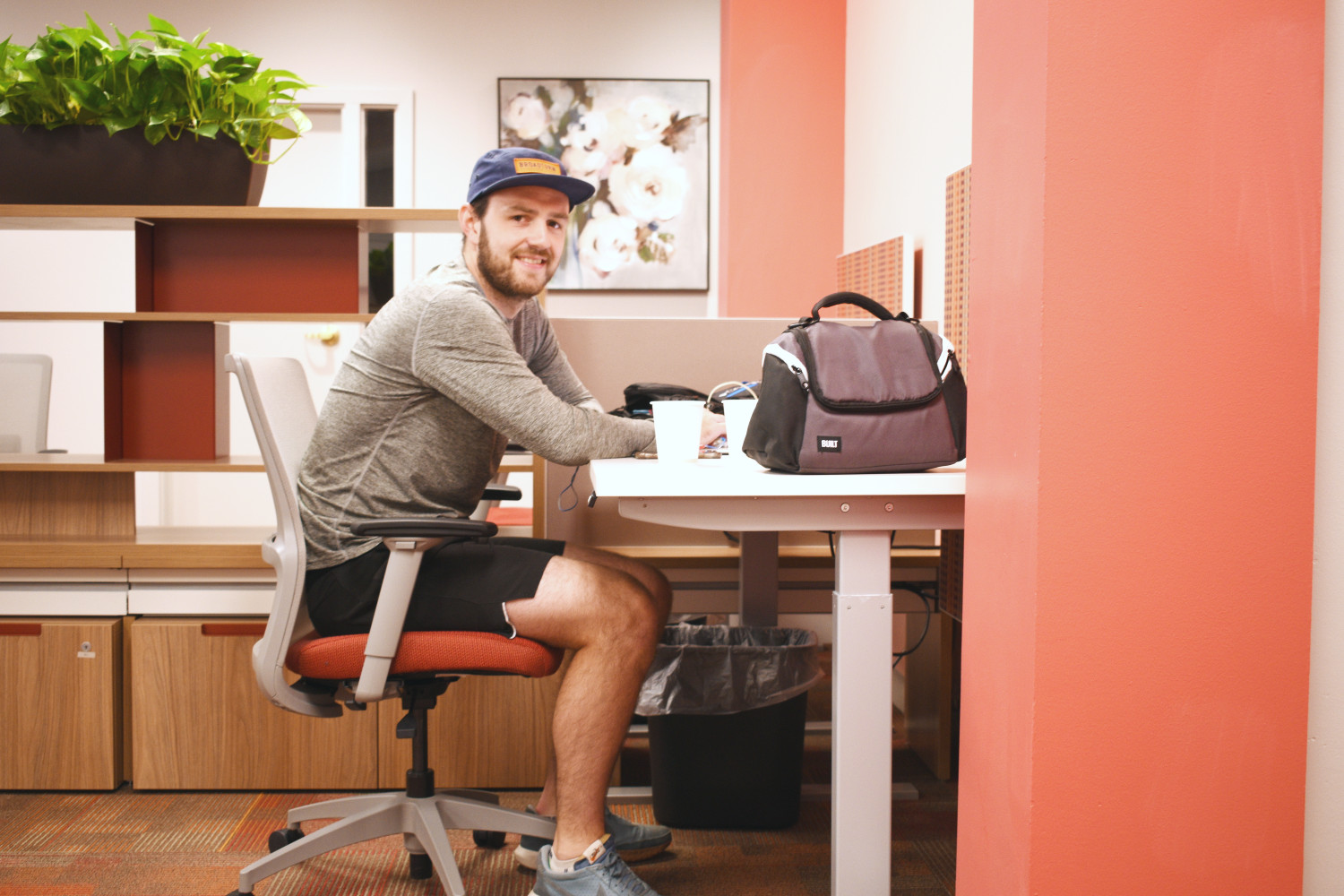 Phil Cutler works at Red Oak Coworking space