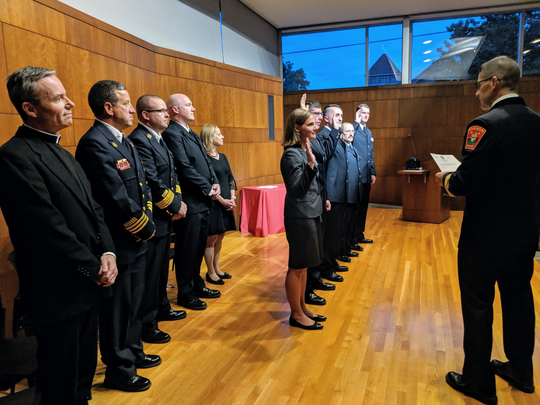Tradition And Change Manchester Fire Department Welcomes New Recruits Manchester Ink Link
