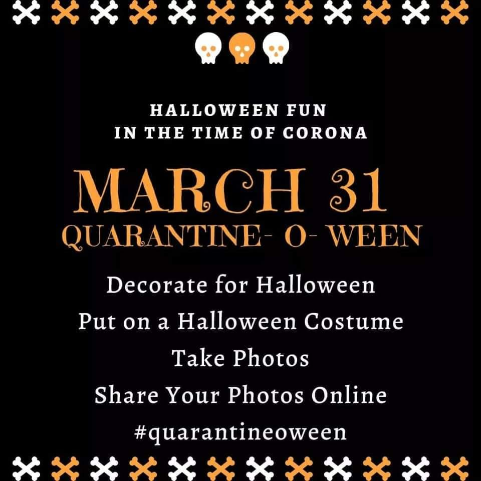 2020 Online Halloween Costume Contest March 31: Quarantine O Ween Virtual Festival goes live – costume